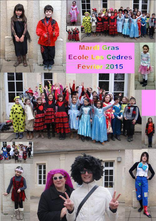 Mardi Gras - Ecole Les Cèdres - Déguisements - Février 2015
