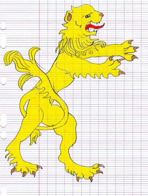 Lion de blason - Angèle (CM1)
