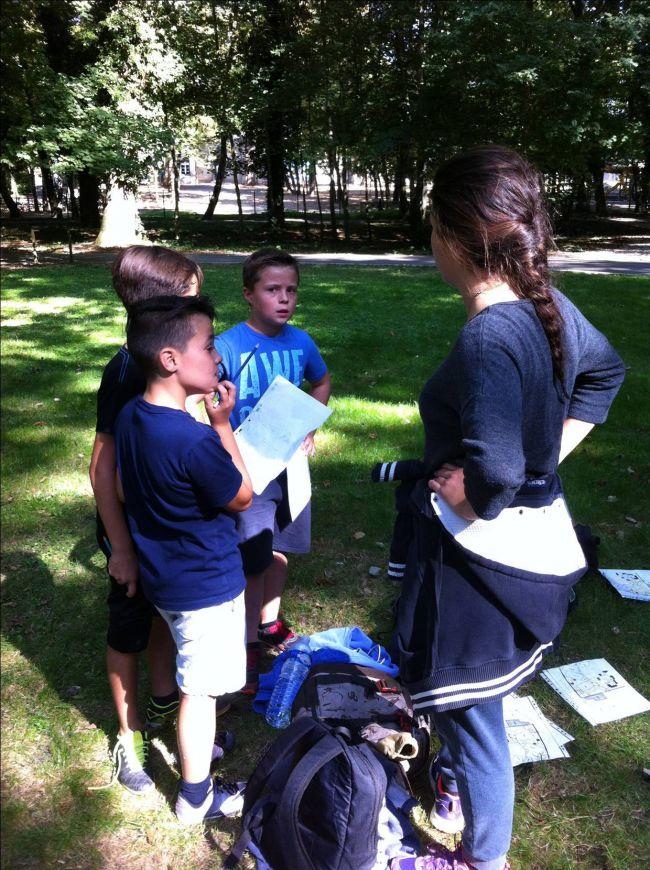 Course d'orientation  avec les CM2 de l'école des Cèdres - Quétigny