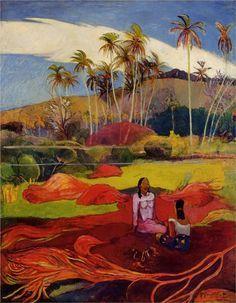 Paul Gauguin - Femmes tahitiennes sous les palmiers - 1892