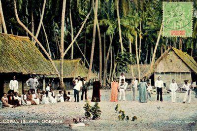 Archipel des Tuamotu - Polynésie Française - photo ancienne