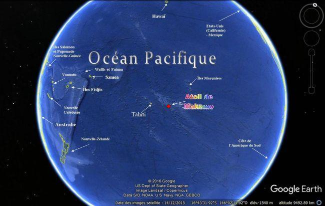 Makemo en plein milieu du Pacifique