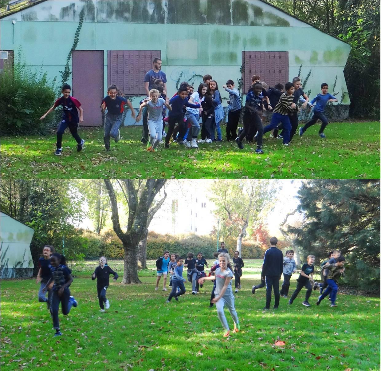 Course d'orientation  avec les CM2 de l'école des Cèdres - Quétigny - 2017