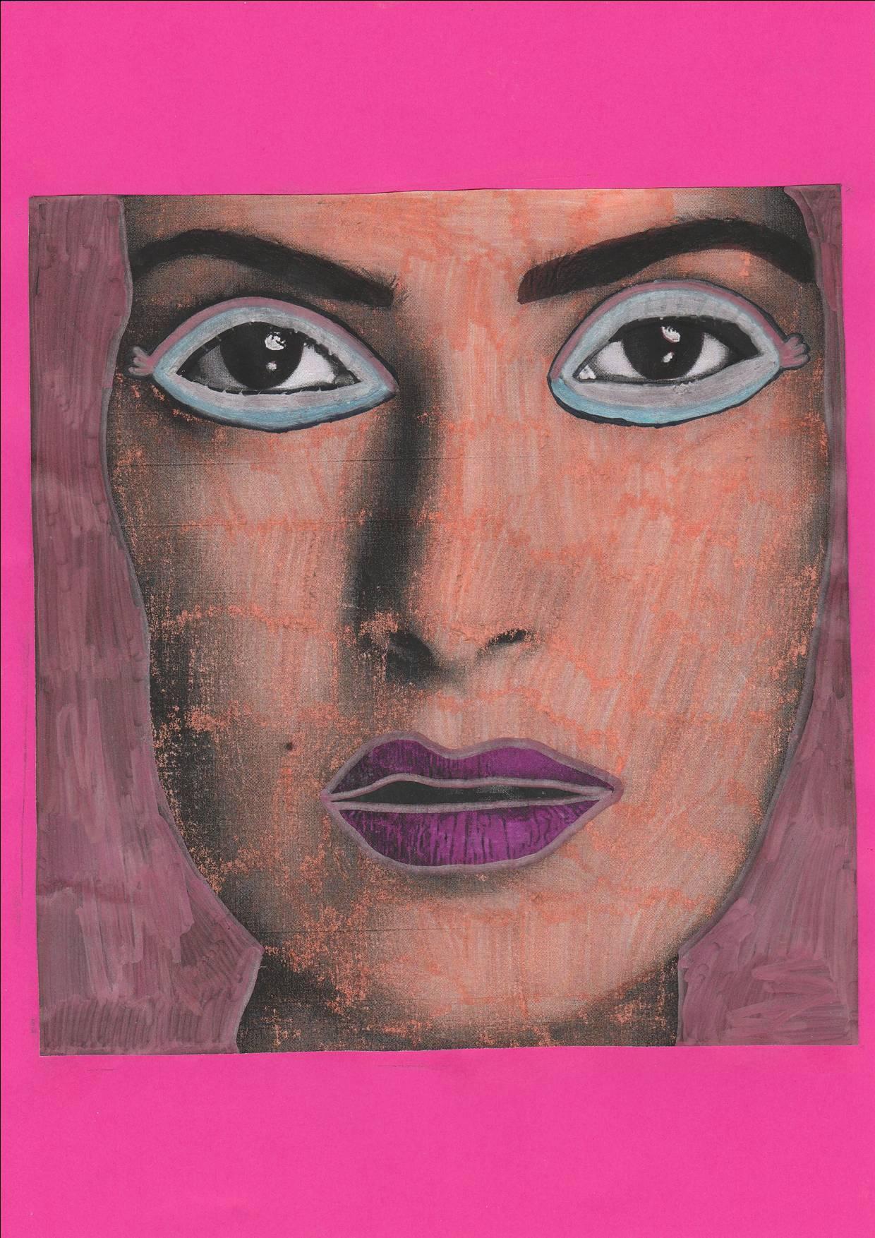 Portrait colorisé - Angèle B. - CM2 - Décembre 2017