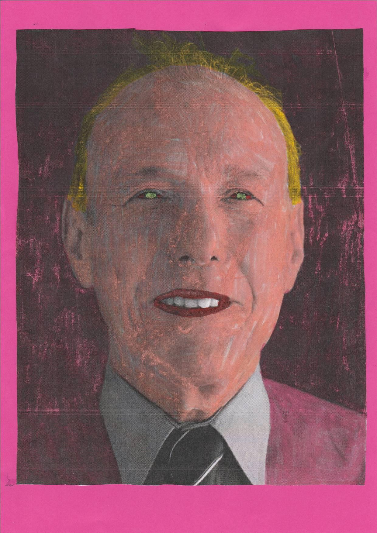 Portrait colorisé - Adel M. - CM2 - Décembre 2017