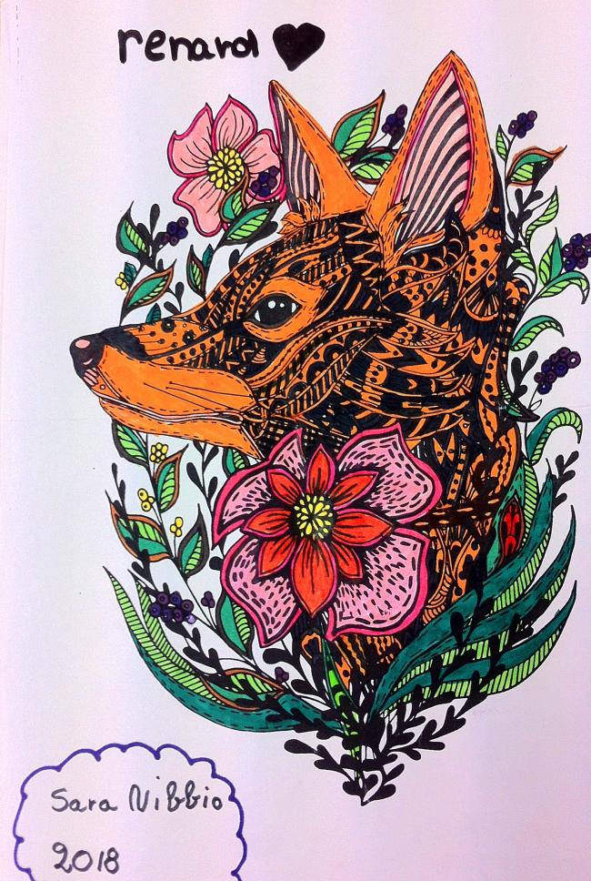 Coloriage Renard - Sara (CM2)