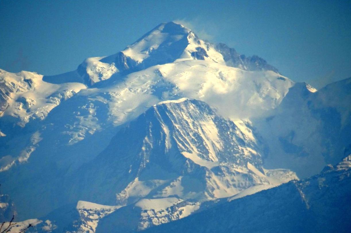 Le Mont-Blanc vu de Gex