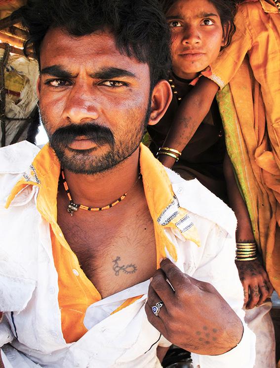 Blog 30x40 cms Tattoo Tribal TT 11 Gypsie man Delwara.jpg