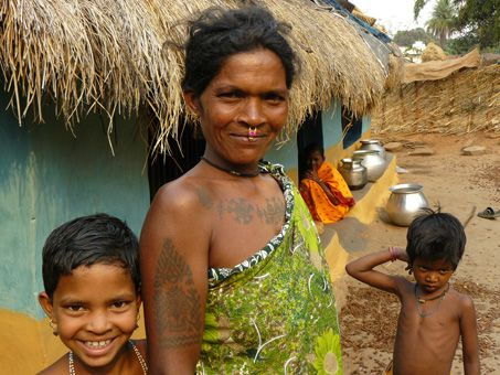 Femme tribale de l'Orissa - Environs de Jeypore