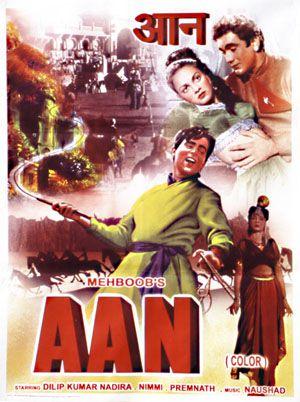 Aan / Bollywood de 1952 avec Dilip Kumar (réimpression)