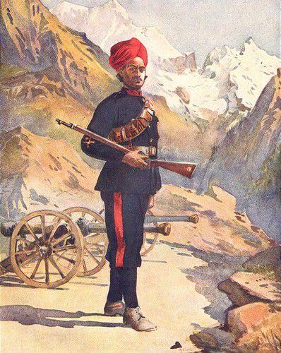 The 31st Mountain Battery Mahratta wars Mountain guns Gunner Punjabi Musalman 1911
