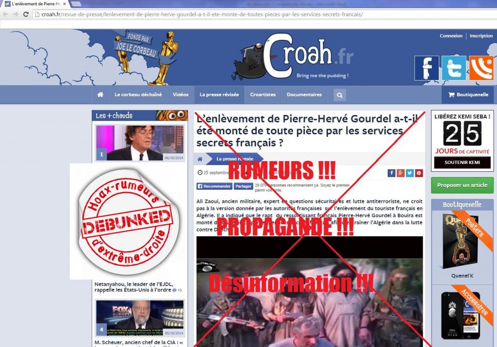Bien connu Assassinat d'Hervé Gourdel, la fachosphère utilise un expert en  RI72