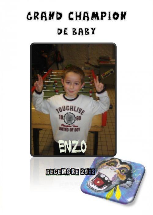 Enzo, champion de baby-foot-Décembre 2012