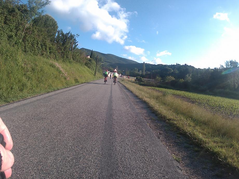 Les premiers km avant que le vent ne se présente