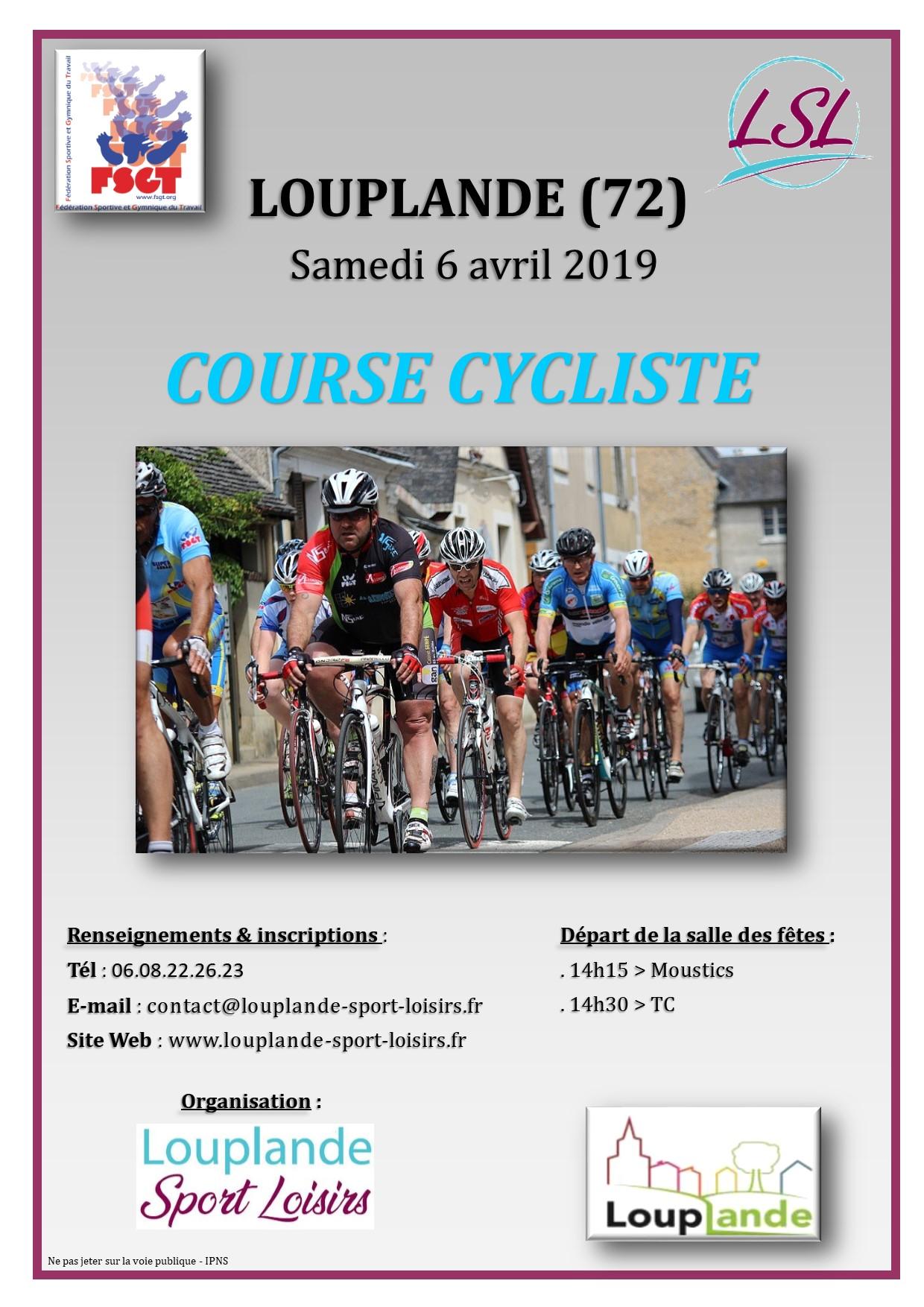 Calendrier Fsgt Cyclisme 2019.Affiche Course Fsgt Louplande Le 6 Avril 2019 Le Blog Du