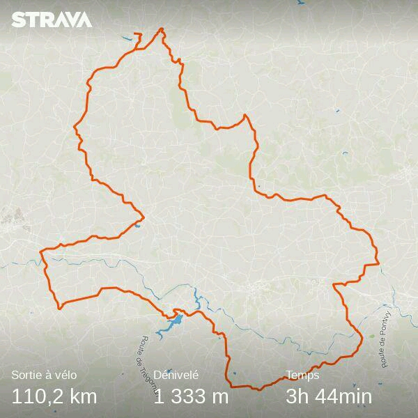 Le  parcours Strava
