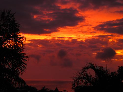 coucher de soleil taravao tahiti