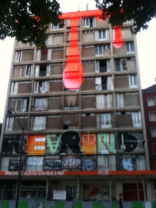L'immeuble qui pleure... Paris 13.