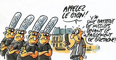 Coiffe bigoudène en missile - Bugaled Breizh  demande rejetée