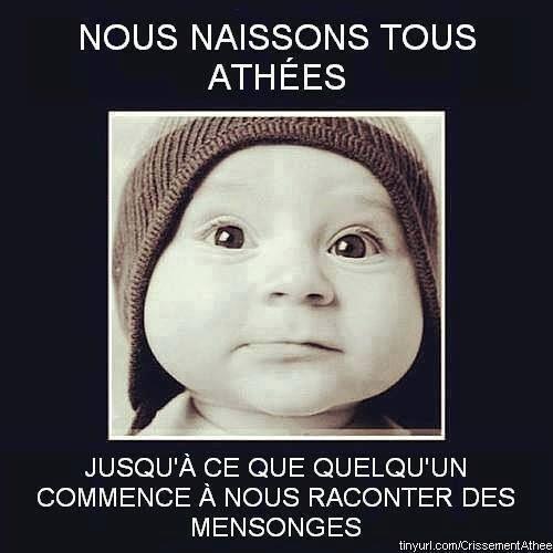 Nous naissons tous athées