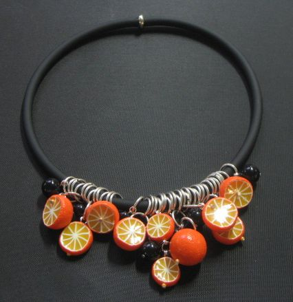 Collier zeste d'orange