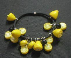 Bracelet zeste de citron