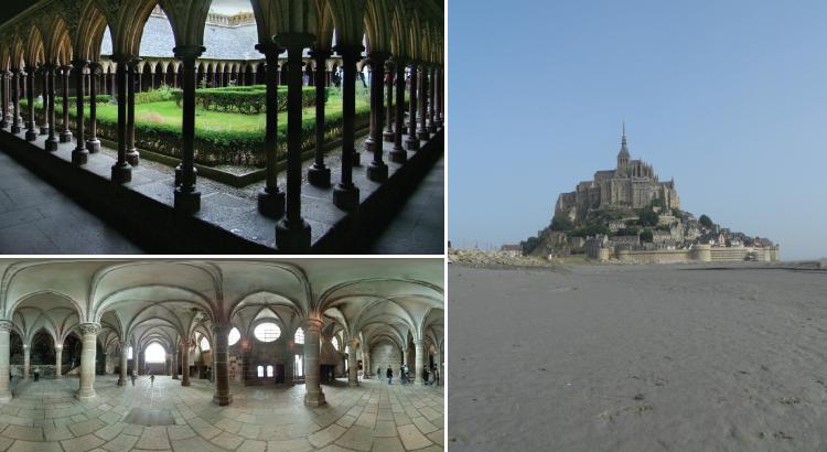 Abbaye du mont Saint-Michel - un monument envahi 2 fois par jour.png