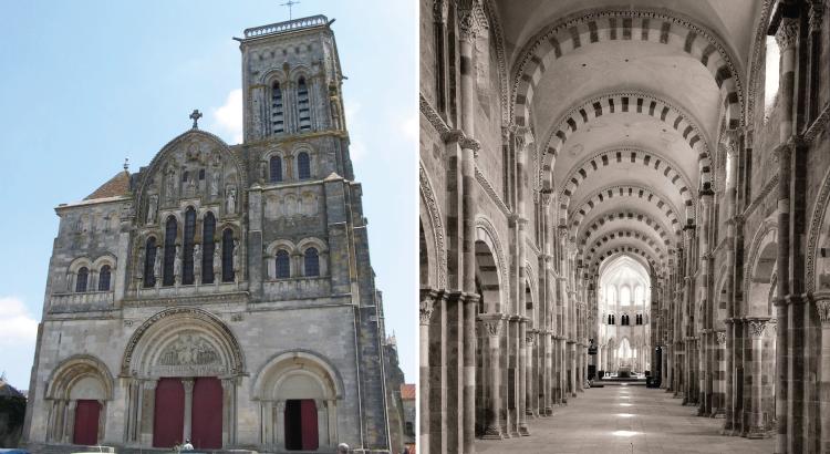 Basilique Sainte-Marie-Madeleine de Vézelay - un jeu de lumière symbole de la lueur divine.png