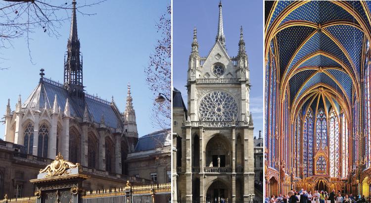 Sainte-Chapelle de Paris - joyau de Saint-Louis pour abriter les reliques de la Passion.png