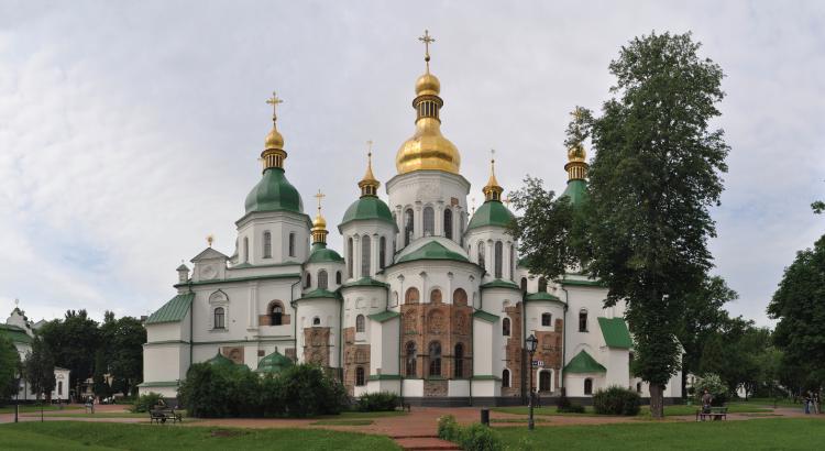 Cathédrale Sainte-Sophie de Kiev (Ukraine) - vestige de la légendaire principauté « Rus' de Kiev ».png