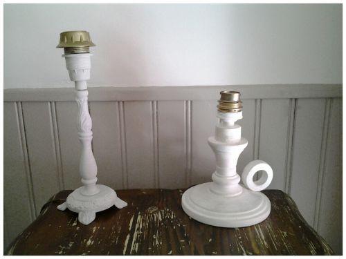 Pieds de lampe bois et métal relookés !