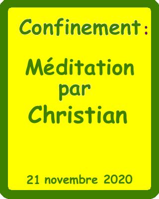 méditation chr  21:11:2020