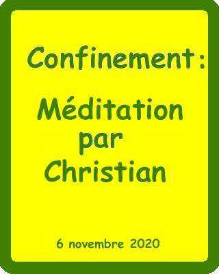 méditation christian catherine 6:11:2020