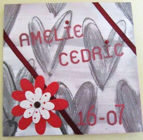 mariage d'Amélie et cédric