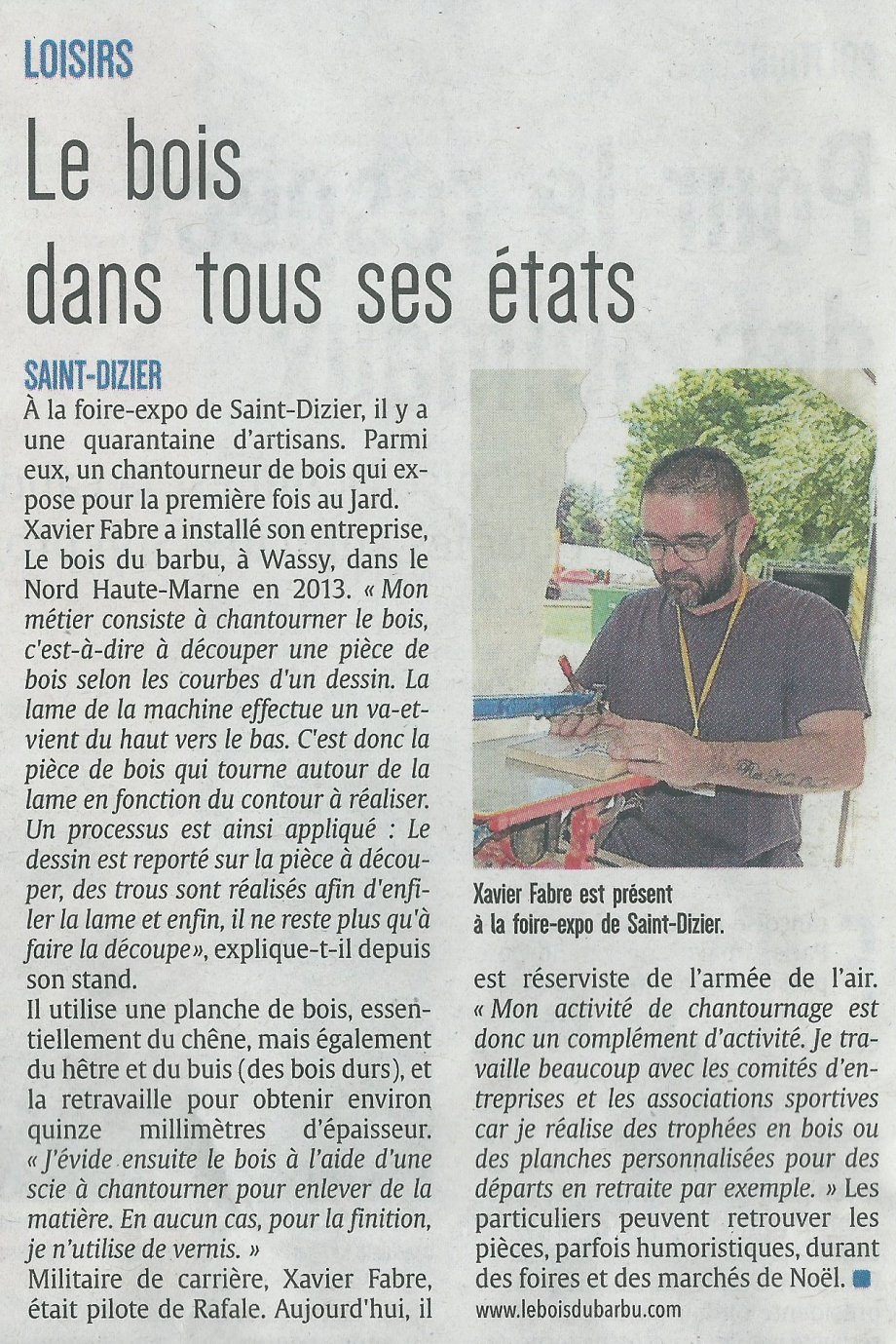 Article journal l'Union mai 2017.png