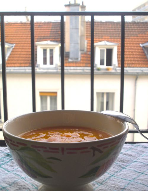 Sous le ciel gris de Paris