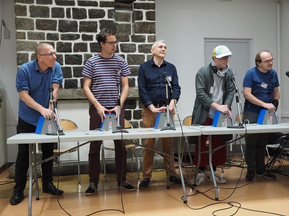 La composition de la finale  Christophe, Sébastien, Pascal, Jocelyn et Frédéric de gauche à droite