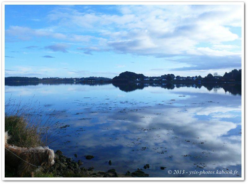 reflets des nuages sur l'eau ria d'etel