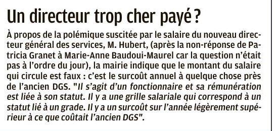 Salaire DGS Presse