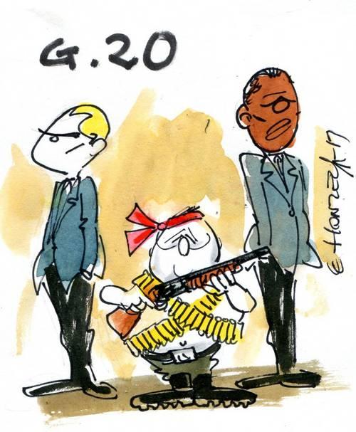 François Hollande veut sa guerre. Il a donc tenté de transformer le G20 en Organisation des Nations Unies de secours.JPG