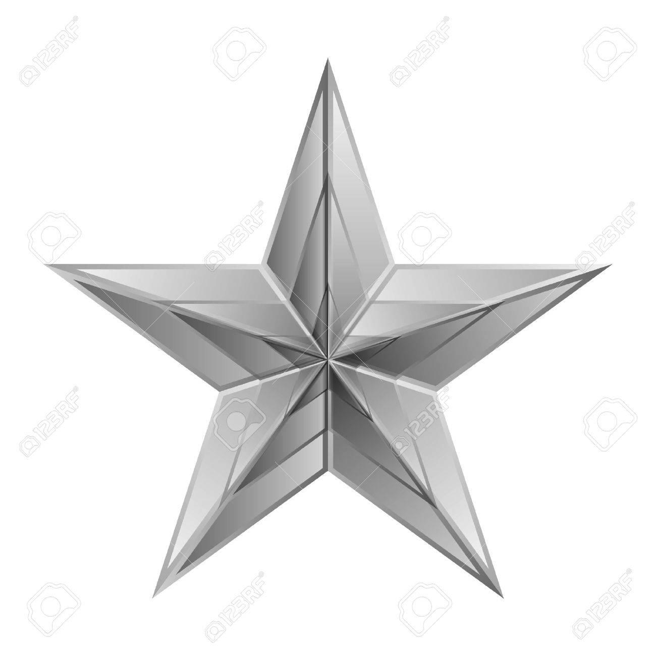 40734840-vector-illustration-de-l-étoile-d-argent