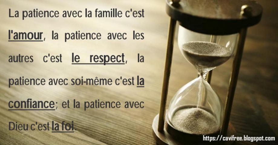 La patience avec la famille c\\\'est l\\\'amour