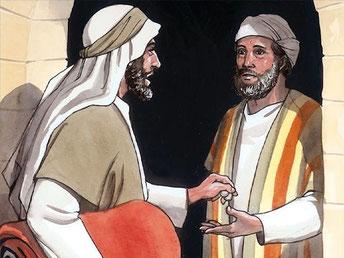 parabole-du-bon-samaritain-le-lendemain-à-son-départ-il-sortit-deux-pièces-d-argent-les-donna-à-l-aubergiste-et-dit-prends-soin-de-lui-et-ce-que-tu-dépenseras-en-plus-je-te-le-rendrai-à-mon-retour