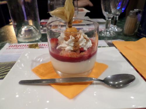 Panna Cotta maison aux fruits