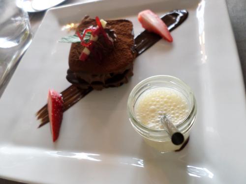 """Lame de chocolat amer maison et sa mousse """"zen"""" tendance"""