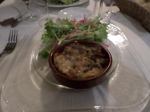"""Lasagnes """"maison"""" aux champignons, gratinées au parmesan"""