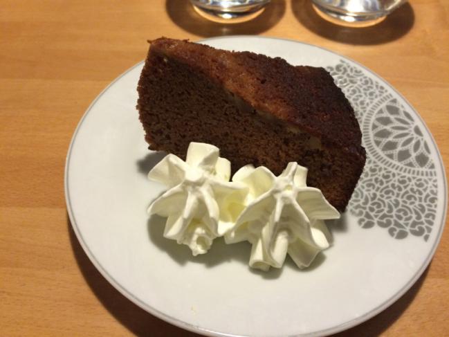 Gâteau au toblerone et banane