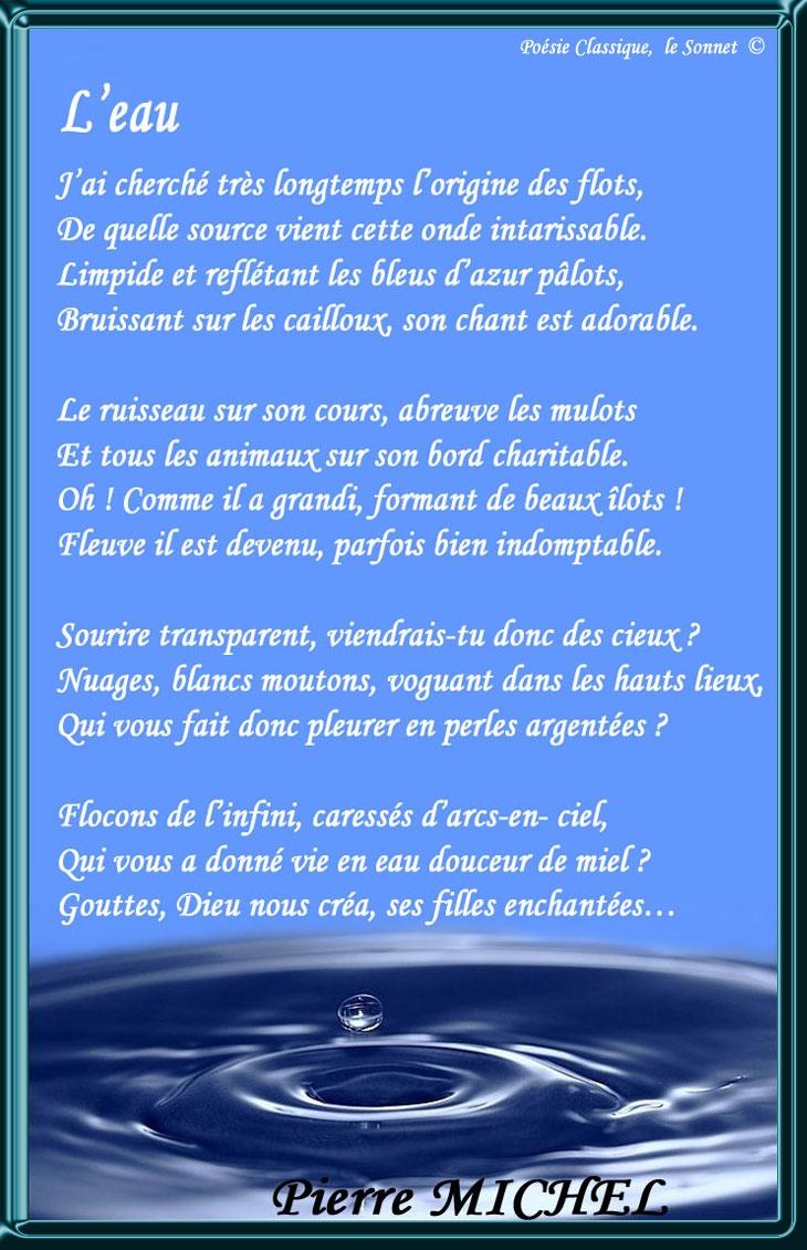 Leau Poésie Classique Sonnet Nérijapoeme