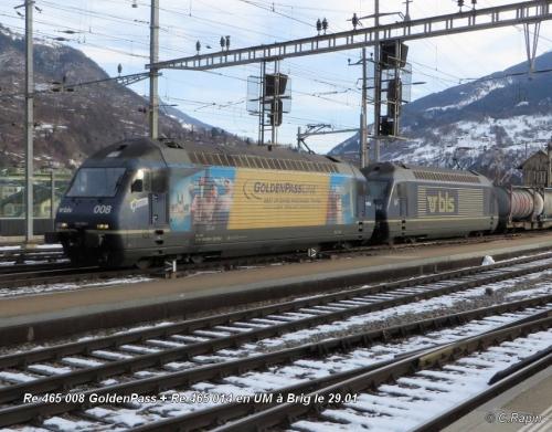 Re 465 008 GoldenPass + Re 465 014 en UM Brig 29.01 ..jpg