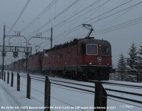 Re 10 Re 66 11678 Bassersdorf + Re 44 II 11343 UM av.Go 4.03.jpg